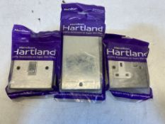 Mixed Lot Of Hamilton 1 Gang Switches, Fuse Plates & Double Blank Plates