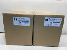 2 x TOA CS-64BS Wide Range Speaker