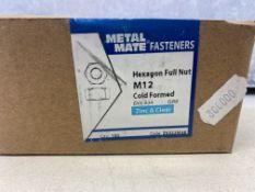 13 x Boxes Of METALMATE® Z0322M58 Hexagon Full Nut ZP M12 | Box 100