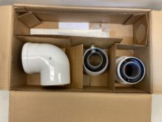 10 x Baxi Multifit 5118580 Group G Horizontal Flue Kit Including Adaptors 80/125mm, Missing Main Flu
