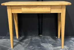 Light Wood Console Table with Drawer