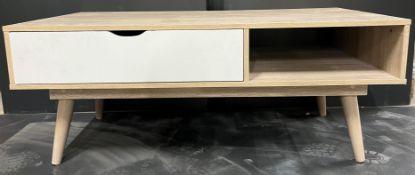 Light Wood Tv Cabinet W/ 1 Drawer
