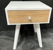 White Single Drawer Bedside Cabinet