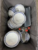 Box Containing Various Bowls/Plates/Rectangle Serving plates