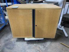 Wooden 2 Door Office Cabinet w/Adjustable Shelf