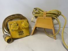 2 x Unbranded 110V Portable Site Transformers