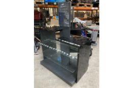 Black Display Stand W/ Glass Shelves