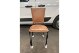 4 x Iron Leather Chairs   2099