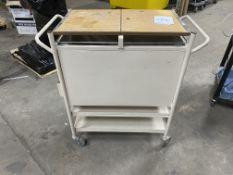 Metal Mobile Trolley w/2 Shelves