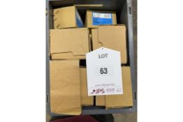 Quantity of 121A 100mm Light Tee Hinges in Black finish