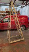6 rise warehouse platform ladder