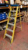 6 rise industrial folding ladder