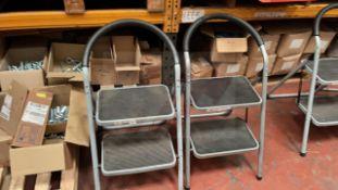 2 x 2 rise step stools 150 Kg capacity