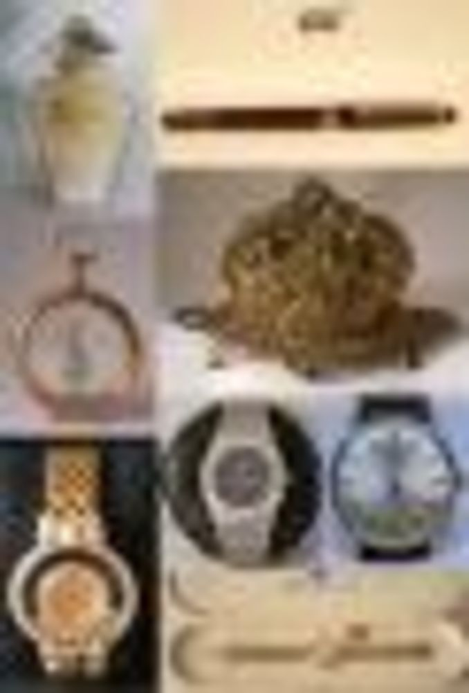 Watches, Writing Objects and Perfume Bottles