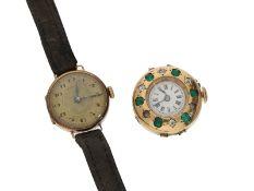 Armbanduhr: Konvolut aus 2 Damenuhren, um 1896/19231. ehemals hochwertige Schmuckuhr,