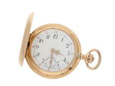 Taschenuhr: sehr schöne IWC Gold-Damenuhr feiner Qualität, ca. 1909Ca. Ø31mm, ca. 2
