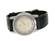 Armbanduhr: vintage Omega Seamaster mit 2-Tone-Dial, ca.1959, BoxCa. Ø34mm, Stahl, Re