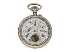 Taschenuhr: silberne astronomische Taschenuhr mit Vollkalender, ca. 1890Ca. Ø50mm, ca
