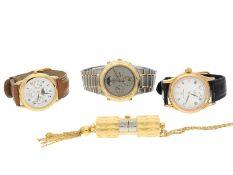 Armbanduhr: Konvolut von 3 Herrenuhren und einer Kettenuhr/Anhängeuhr1. Seiko Chronog