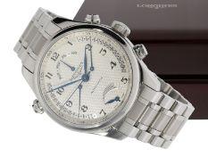 Armbanduhr: hochwertige, komplizierte Automatikuhr mit retrogradem Kalender, retrograder 2.Zeitz
