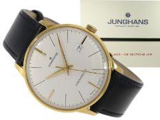 Armbanduhr: elegante neuwertige Automatikuhr, Junghans Meister Chronometer, limitiert auf 150 St