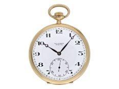 Taschenuhr: hochwertige Präzisionstaschenuhr um 1920, Ankerchronometer Paul Ditisheim Solvil</b
