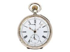 Taschenuhr: äußerst seltener Chronograph mit retrogradem Zähler, Stauffer & Co. La Chaux de F