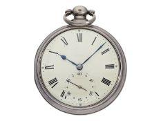 Taschenuhr: interessante englische Taschenuhr mit seltener Hemmung und anhaltbarer Sekunde für