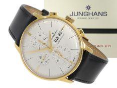 "Armbanduhr: neuwertige Junghans Herrenuhr ""Chronoscope"", limitierter astronomischer Automatik-Ch"