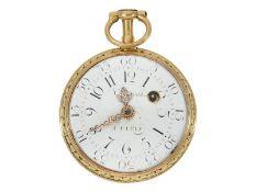 """Pocket watch: Louis XV Lepine """"à quatre couleurs"""", signed Clement Paris, ca. 1770"""
