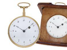 Taschenuhr: hochfeine, außerordentlich gut erhaltene goldene Repetier-Uhr mit ungewöhnlichem O