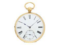 Taschenuhr: qualitätsvolle englische Taschenuhr mit Schlüsselaufzug, Le Bruin London No.120, 1