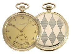 Pocket watch: elegant Art déco Lepine by IWC Schaffhausen, ca. 1926