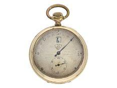 Taschenuhr: technisch interessante Taschenuhr mit springender Stunde und retrograder Minute, Mod