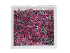 Edel-Steine: großes Konvolut aus kleinen blauen, roten und grünen Farbsteinen, zusammen ca. 46