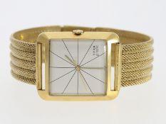 "Armbanduhr: ausgefallene 18K Gold Herrenarmbanduhr Doxa ""Grafic"" mit passendem 14K Gold Armband,"