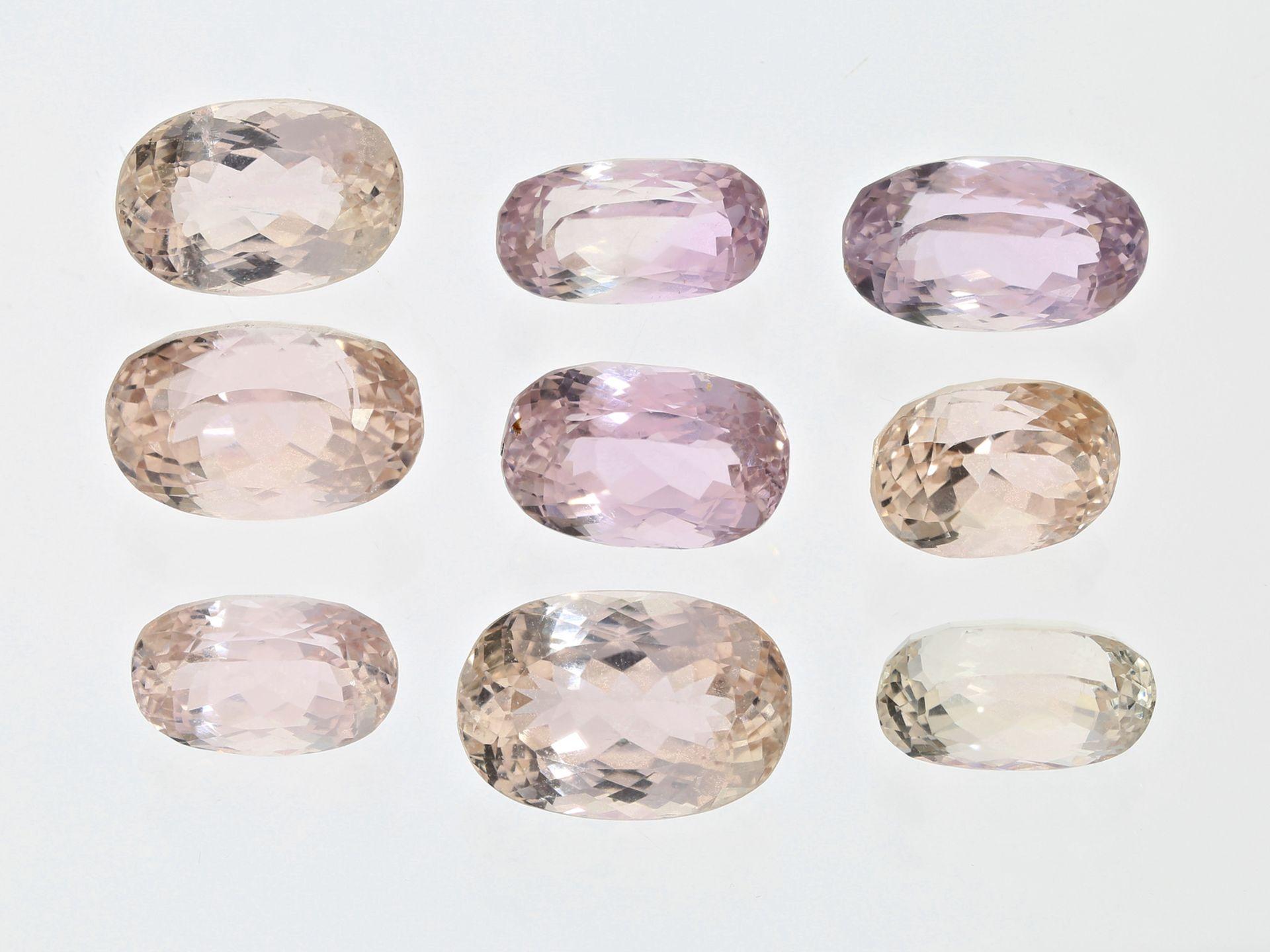 Amethyst/Citrin/Morganit: Konvolut verschiedener Farbsteine, insgesamt ca. 107ctKonvol