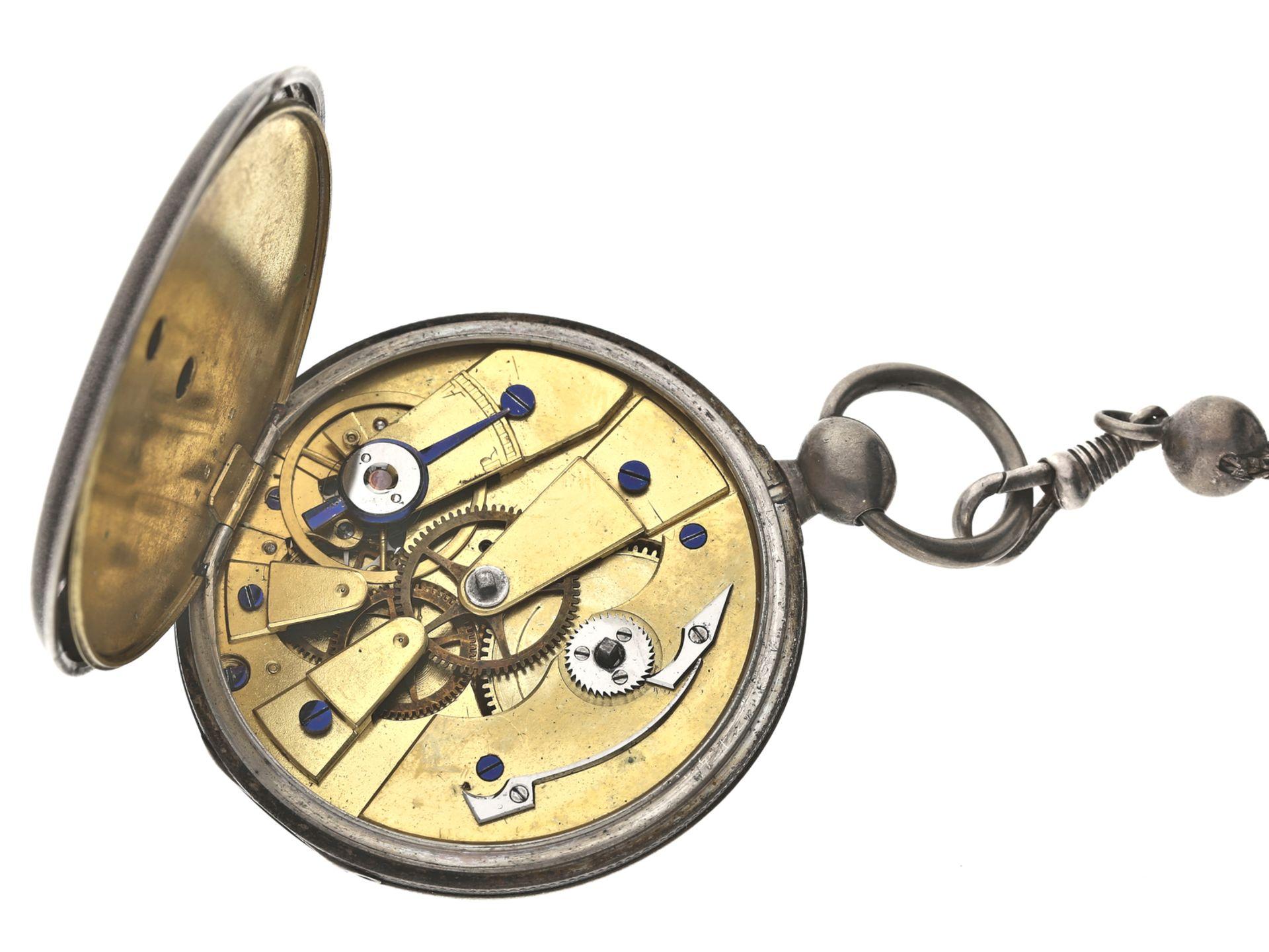 Taschenuhr: feine Genfer Lepine mit dazugehöriger Uhrenkette, Piguet & Meylan, um 1840<br / - Bild 2 aus 2