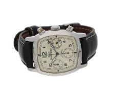 Armbanduhr: attraktiver Edelstahl-Herren-Chronograph, Daniel Jean Richard, Ref: 25006