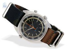 Armbanduhr: gesuchter, großer vintage Chronograph, Omega Seamaster Chronostop (Flyback), ca.1970