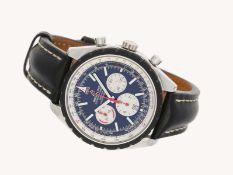 Armbanduhr: übergroßer, sportlicher Breitling Chronograph, zertifiziertes Automatikchronometer