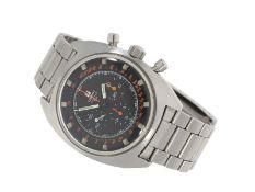 Armbanduhr: große vintage Herrenuhr, Tissot 'Seastar T 12', Stahl-Chronograph, Ref: 40506, Lemania 1