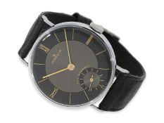 """Armbanduhr: sehr seltene, oversize """"39mm"""" Marvin mit schwarzem Zifferblatt, new-old-stock, 40er-"""