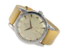 Armbanduhr: frühe Omega Seamaster Automatic in Stahl, ca. 1952, Ca. Ø36mm, Edelstahl, verschraubt,