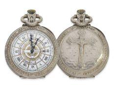 Taschenuhr: äußerst seltene französische Taschenuhr für katholische Priester, Ratel, Horloger Bte.
