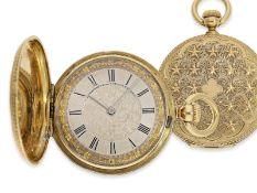 Taschenuhr: sehr seltene Prunksavonnette, um 1860, vermutlich Patek Philippe, geliefert an den