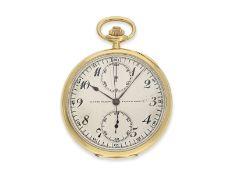 """Taschenuhr: hochfeiner Chronograph """"Compteur"""", Ulysse Nardin, ca.1920, Ca. Ø50mm, ca. 77g, 18K Gold,"""