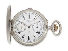 """Taschenuhr: seltenes Ulysse Nardin Ankerchronometer mit Chronograph """"Compteur"""", ca.1910, Ca. Ø52,"""