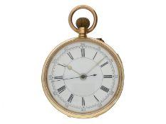 Taschenuhr: schwerer und großer Centre Seconds Chronograph, Schweiz für den englischen Markt, um