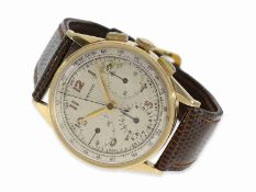 Wristwatch: early, very large Zenith chronograph, 18K gold, from the 1950s